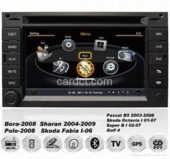 大衆帕薩特車用多媒體導航帶DVD收音藍牙3G/WIFI觸摸屏