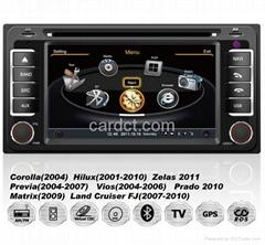 豐田車用多媒體導航帶DVD收音藍牙3G/WIFI觸摸屏