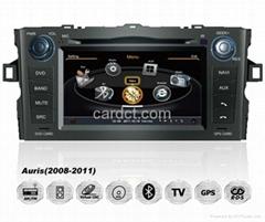 豐田艾瑞絲車用多媒體導航帶DVD收音藍牙3G/WIFI觸摸屏