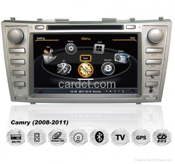 丰田凯美瑞车用多媒体导航带DVD收音蓝牙3G/WIFI触摸屏 1