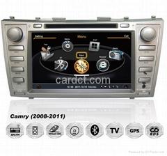 豐田凱美瑞車用多媒體導航帶DVD收音藍牙3G/WIFI觸摸屏