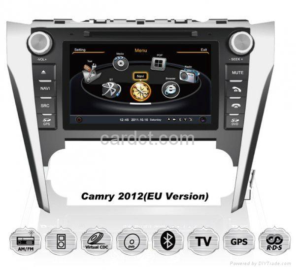 丰田凯美瑞2012 2013车用多媒体导航带DVD收音蓝牙3G/WIFI触摸屏 1