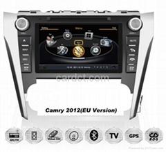 豐田凱美瑞2012 2013車用多媒體導航帶DVD收音藍牙3G/WIFI觸摸屏