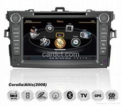 豐田卡儸拉車用多媒體導航帶DVD收音藍牙3G/WIFI觸摸屏