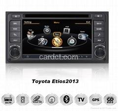 2013豐田Etios車用多媒體導航帶DVD收音藍牙3G/WIFI觸摸屏