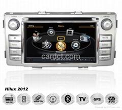 豐田海拉克斯車用多媒體導航帶DVD收音藍牙3G/WIFI觸摸屏