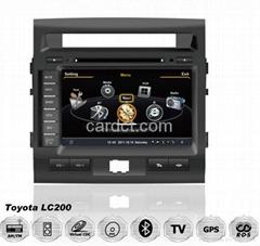 丰田陆地巡洋舰车用多媒体导航带DVD收音蓝牙3G/WIFI触摸屏