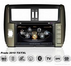 2010丰田霸道车用多媒体导航带DVD收音蓝牙3G/WIFI触摸屏