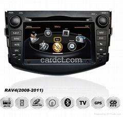 豐田Rav4車用多媒體導航帶DVD收音藍牙3G/WIFI觸摸屏