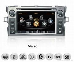 丰田Verso车用多媒体导航带DVD收音蓝牙3G/WIFI触摸屏