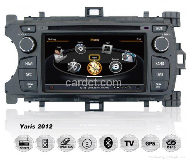 丰田雅力士 2012 2013车用多媒体导航带DVD收音蓝牙3G/WIFI触摸屏 1