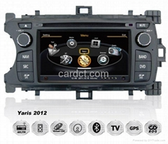 丰田雅力士 2012 2013车用多媒体导航带DVD收音蓝牙3G/WIFI触摸屏