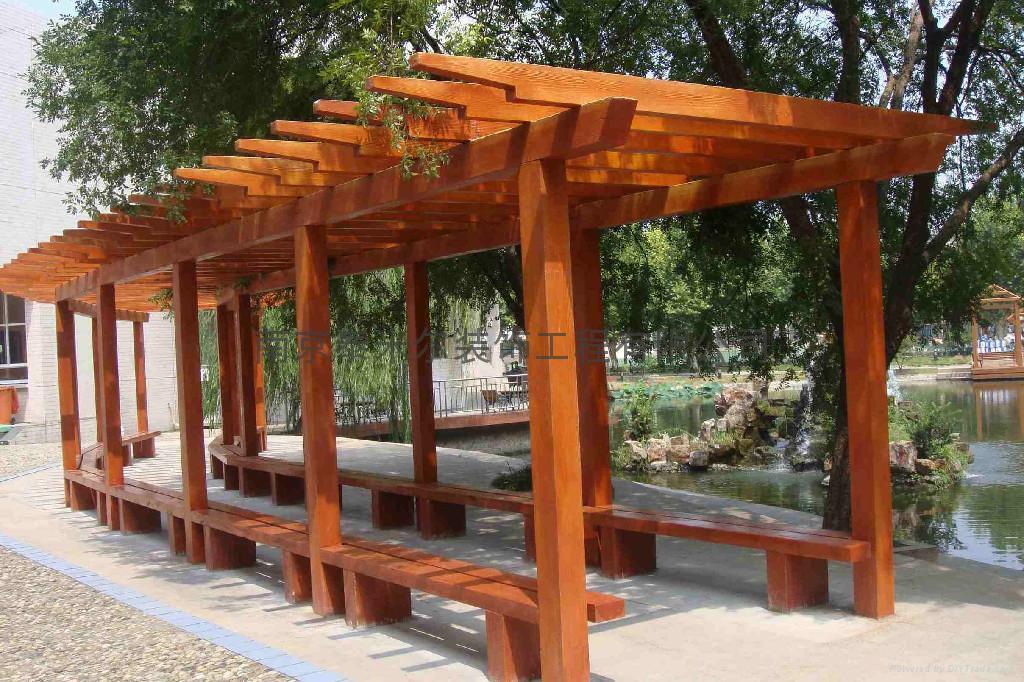 南京仿木葡萄架 2
