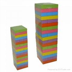 small colorful 54 pcs jenga toy