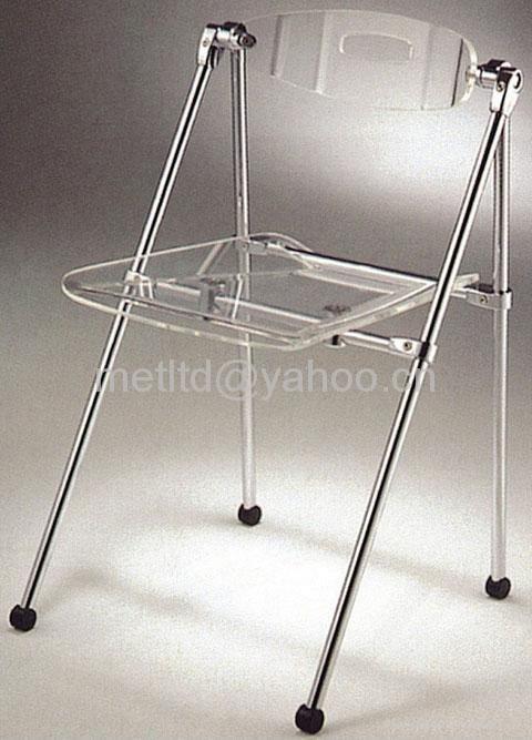 Acrylic folding chair F 002 Minhou China Manufacturer Leisure Furnitu