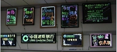 LED七彩熒光手寫板廣告燈箱