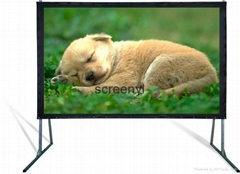 fast flod projection screen
