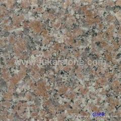 Red granite tiles G368