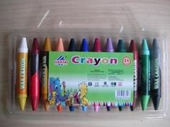 double color crayon