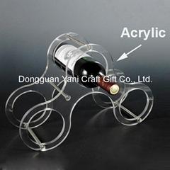 acrylic wine bottle rack