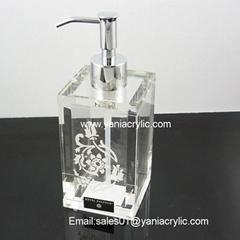 elegant acrylic liquid soap dispenser