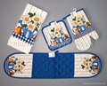 Apron ,kitchen towel ,over mitten and pot holder  2