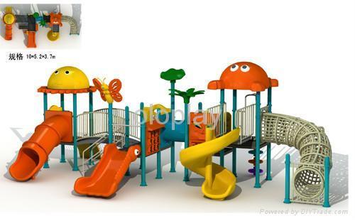 Charming ... Children Outdoor Playground Equipment, Playground Castle 3 ...