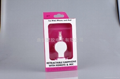 retractable earphone with remote& mic