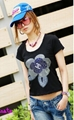 Flower Back Intersect T-shirt