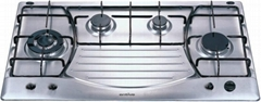 Stainless Steel Gas hob 90cm