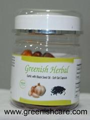 black seed & garlic soft gel oil capsule