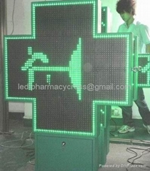 Led Pharmacy Cross Display 110*110cm for Outdoor with CE-Many Sizes