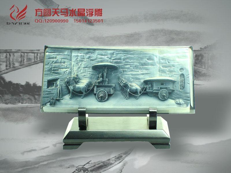 深圳水晶浮雕工藝品定製 4