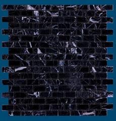 Nero Marquina brick marble mosaic
