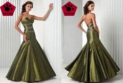 2011 Shiny evening dresses beaded