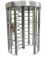 Full height turnstile road barrier, swing gate turnstile