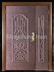Taiwan pure aluminum armored art door