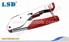 Compression Crimp Tool for coaxial connectors