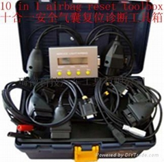 Automobile airbag system diagnostic servicing kit