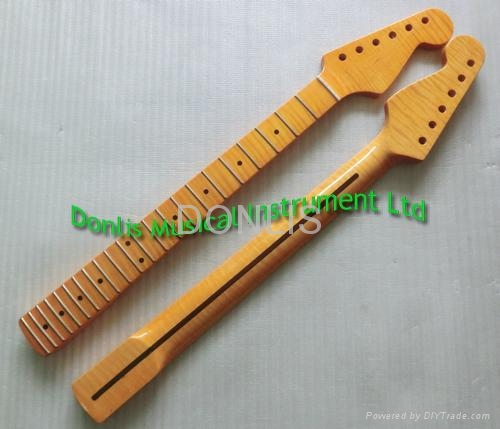 Flamed maple electric guitar neck supplier 1