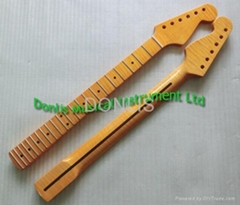 Flamed maple electric guitar neck supplier