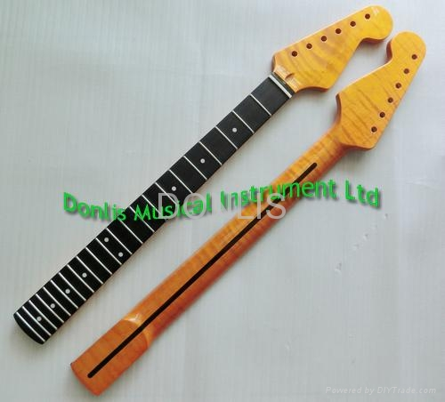 Flamed maple electric guitar neck supplier 3