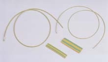 yellow/green heat shrink tubes
