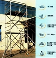 Aluminium alloy fast-installed scaffolding