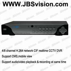 H.264 4CH or 8CH network realtime CCTV DVR