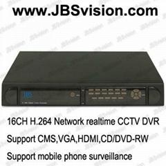 16CH H.264 Network CIF realtime CCTV DVR