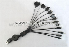 10 in 1 USB Retractable Charging Cable