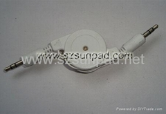 3.5mm PLUG to 3.5mm PLUS Retractable Cable