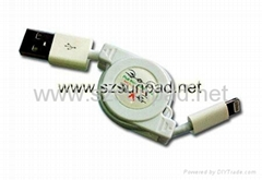 Retractable USB Charge & SYNC Cable for iPhone 5
