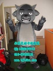 出售北京灵动卡通服装毛绒人偶服装灰太狼